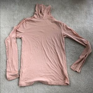 J. Crew pink tissue turtleneck medium